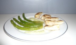 Filets de dinde à la crème d'asperge