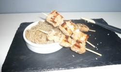 Brochettes de saumon soja sésame
