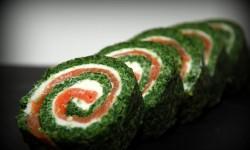Roulé saumon épinard