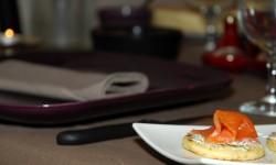 Pancake au saumon fumé